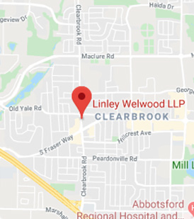 map of Linley Welwood LLP law office in abbotsford